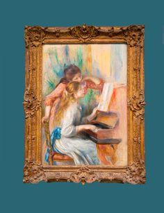 Meninas ao Piano (francês: Jeunes filles au piano) Pierre-Auguste Renoir.     Chamada pelo pintor de período iridescente, a partir de 1889 Renoir mudaria de estilo. Era foi uma fase de recuperação da liberdade da juventude.    Completada em 1892, a pintura foi encomendada pelo Museu do Luxemburgo.     Renoir pintou outras três versões desta composição a óleo e dois desenhos, uma a óleo e outra em pastel.