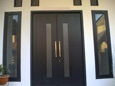 Ideas For Double Door Design Modern Interior Modern Entrance Door, Main Entrance Door Design, Wooden Main Door Design, Double Door Design, Door Entryway, House Entrance, House Main Door, Entrance Ideas, Double Doors Exterior
