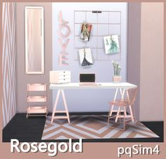 Sims 4 Updates: pqSims4 - Objects, Decor : Rose Gold Decor, Custom Content Download!