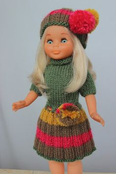 Vestidos Nancy, Nancy Doll, Knitting Dolls Clothes, American Doll Clothes, Sarah Kay, Holly Hobbie, Vintage Dolls, Girl Dolls, American Girl