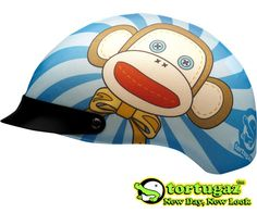 Tortugaz™ Universal Motorcycle Bike DOT Helmet Cover Protector Smiling Monkey