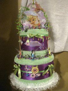 Tinker Bell Birthday Towel Cake