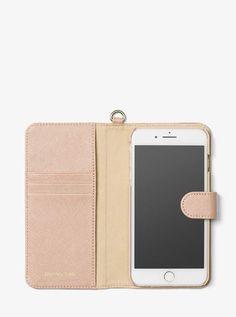 0f13e15e0a27 MICHAEL Michael Kors Saffiano Leather Folio Phone Case For iPhone7 8 Plus