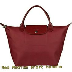 05462bfecff7 Pre Order - Longchamp Planetes Medium Short Handle Red for $0 on Carousell