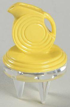 Homer Laughlin Fiesta Yellow (Newer) Cheese Button