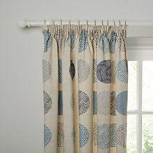 Buy John Lewis Elements Lined Pencil Pleat Curtains, Blue Online at johnlewis.com