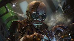 Gnome Welder Picture (2d, illustration, sci-fi, gnome, welder)