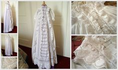 Regal Antique Victorian Christening Gown from FRENCH VINTAGE LINENS AND ANTIQUES on Etsy