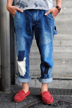 Repurposed, Reused & Recycled_Lovely repaired jeans