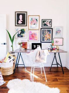 Artsy dreamy workspace