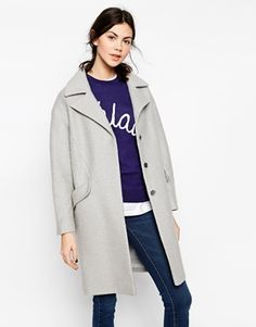 ASOS Coat In Cocoon With Seam Detail