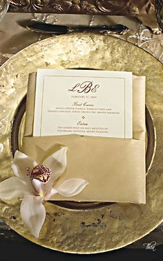 Spectacular Entertaining Events| Serafini Amelia| Wedding Styling-Wedding  Place Setting ● Golden Opulence