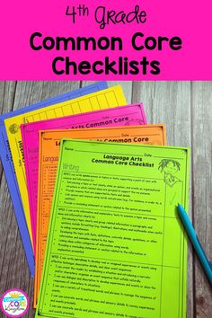 Checklists for all fourth grade Common Core State Standards. CCSS checklists and assessment recording sheets that are perfect for students and teacher data tracking and data notebooks. Common Core Writing, Common Core Standards, 4th Grade Classroom, Classroom Ideas, Common Core Checklist, Student Data Tracking, Data Folders, L Names, Data Notebooks