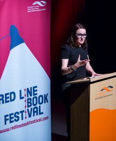 Alex Barclay reading from her new crime novel for 2014