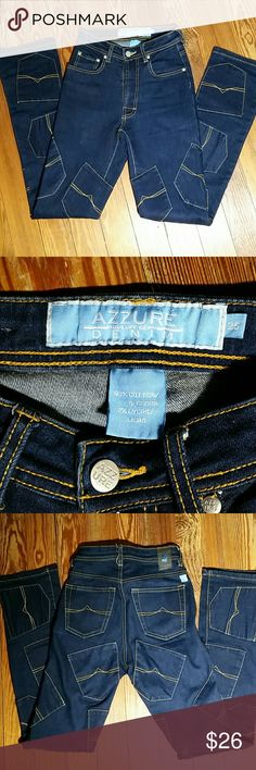 Azure Denim Jeans Skinny, 25, pocket patches all over jeans Azzure Jeans Skinny