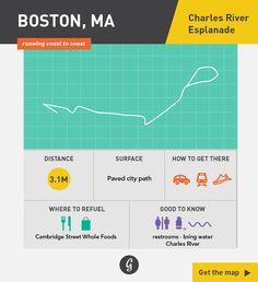 Greatist Running Routes Coast to Coast: Boston, MA - Charles River Esplanade