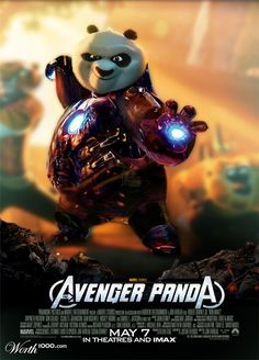 Avenger Panda. Po learns the art of technology (and Jarvis). -- Iron Man meets Kung Fu Panda