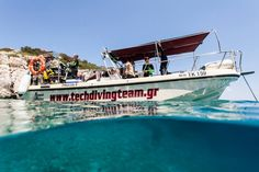 Our 9m diving boat