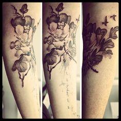Watercolour Flower Tattoo