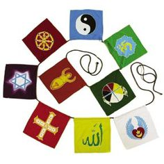 World Religions flags banner