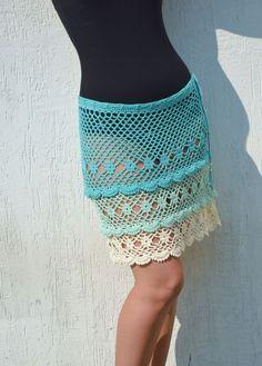 Crochet skirt summer lace skirt crochet skirt cotton boho skirts festival skirt vacation sea beach crochet skirts blue cotton skirt cover up