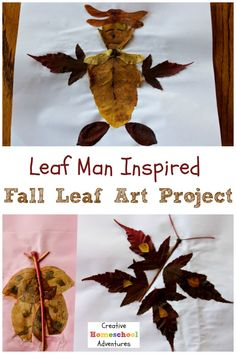 Leaf Man the book inspired Autumn leaf arts and crafts project using colorful fall leaves Fun Arts And Crafts, Arts And Crafts Projects, Crafts For Kids, Leaf Man, Inspired Learning, Nature Crafts, Fall Leaves, Craft Tutorials, Fun Activities