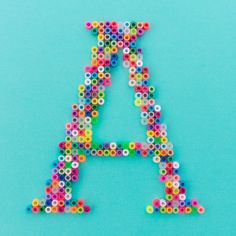 A - perler bead alphabet by pleaseaspunched