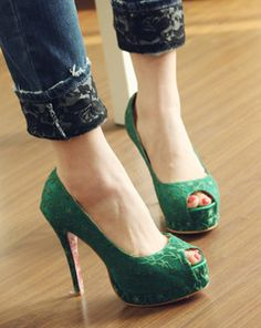 $21.97 Ultra cents invincible European and American big red carpet show Floral Lei Sibu sexy super high heels fish head waterproof shoes female