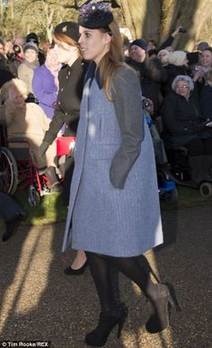 Princesses Beatrice (right) and Eugenie (left) arrive at church