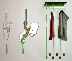 """MagicBeans"" Coat Hanger by Massimo Battaglia » Yanko Design"