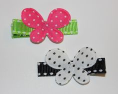 Medium Polka Dot Butterfly Clip. $2.50 each. Available in other colours. Baby Shoes, Polka Dots, Butterfly, Colours, Boutique, Medium, Kids, Young Children, Boys