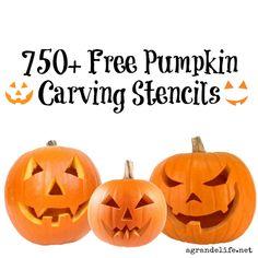 750+ #Free Pumpkin Carving Stencils #halloween