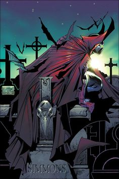 Spawn by Todd McFarlane, my favorite comic artist. Spawn Comics, Bd Comics, Horror Comics, Image Comics, Marvel Dc Comics, Comic Book Characters, Comic Character, Comic Books Art, Deadpool