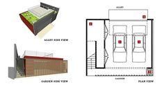 Green Garage | v2.2 Square + Roof Deck