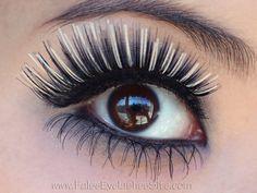 Black & white false eyelashes & bottom falsies