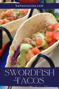 Do you love the heartiness of swordfish? Don't feel intimidated by cooking fish at home. These blackened Swordfish Tacos are dairy-free, can be made gluten-free (by using corn tortillas), and are made in minutes. Fish Recipes, Seafood Recipes, Creamy Cilantro Dressing, Oven Baked Fish, Mexican Side Dishes, Dairy Free, Gluten Free, Sin Gluten