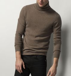 WOOL AND CASHMERE POLO-NECK SWEATER - View all - Knitwear - MEN - United Kingdom - Massimo Dutti