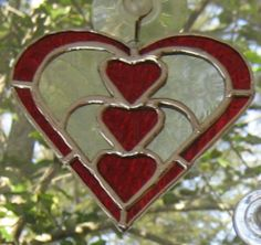 With Every Beat of My Heart Stained Glass by hobbithousecreations, $25.00