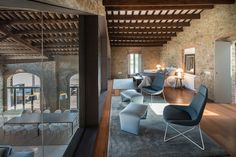 Modern Farmhouse Renovation by Gloria Duran Torellas - Antique Farmhouse in Spain Gets a Modern Renovation - Dwell Antique Farmhouse, Modern Farmhouse, Farmhouse Renovation, Wood Architecture, Spanish Style Homes, Rustic Contemporary, Stone Houses, Prefab Homes, Great Rooms