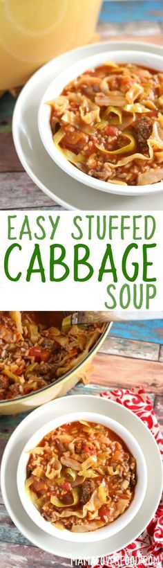 THIS GOT 2 THUMBS UP FROM HUBBY!    Stuffed Cabbage Soup - Make Stuffed Cabbage the Easy Way