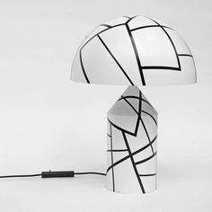 1980s Bespoke Op Art Atollo Table Lamp by Vico Magistretti for Oluce 4