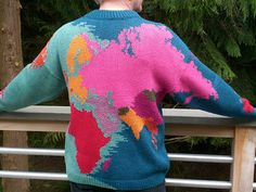 Vogue knitting map of the world sweater - for when you want to play Risk on your chest.