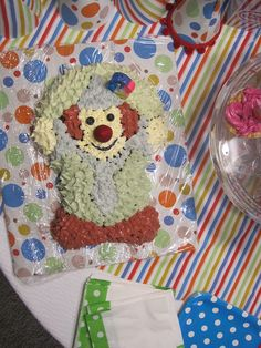 Clown cake with India Natural Food Dye