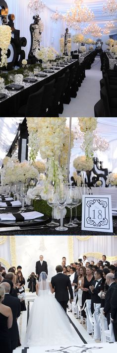 Dream weddings are more than the decor...Celebrity Weddings, Black and White Weddings, #Why I Hate Kim Kardashian