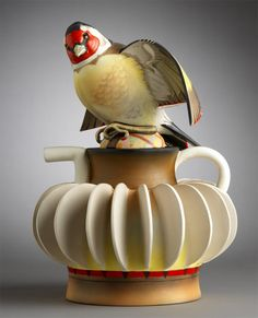 """Goldfinch"" teapot by Annette Corcoran . intriguing small teapot added by Pottery Teapots, Ceramic Teapots, Ceramic Pottery, Chocolate Pots, Chocolate Coffee, Teapots Unique, Vintage Teapots, Cute Teapot, Teapots And Cups"