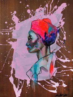 "My work on Saatchi Art #unamorte ; Painting, ""Pink"" #art"