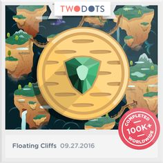 Ah! I snatched the Bird's Eye from the Floating Cliffs. Don't look down. - playtwo.do/ts #TwoDots