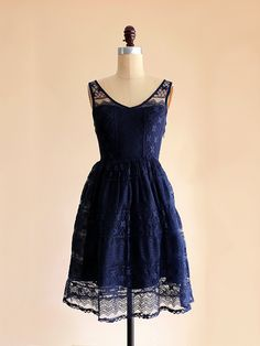 river dress - apricity - midnight navy blue lace dress with full gathered skirt Lace Bridesmaid Dresses, Homecoming Dresses, Blue Dresses, Navy Bridesmaids, Quinceanera Dresses, Wedding Dresses, Lace Overlay Dress, Lace Dress, Dress Up