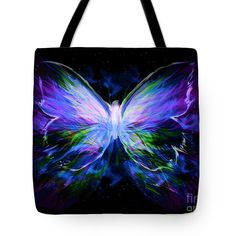 "Gorgeous Purple Butterfly tote, ""Unspoken Beauty"", by Pam Herrick. Great gift for you or a friend! Gorgeous deep dark rich colors. Carry all tote, alternative purse or pocketbook, with the beauty of Prophetic Art! Lots more styles, paintings, prints and options like hoodies, T-shirts, beach towels, framed art and more! From http://www.PamHerrickPropheticArt.com"