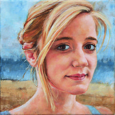 """""""Ellie"""" Oil on canvas Order similar portrait by Elin Eriksen here. Oil On Canvas, Portraits, Artist, Painting, Fictional Characters, Head Shots, Artists, Painting Art, Paintings"""